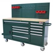 George Tools Mobile workbench 62 inch 10 drawers - British Racing Green