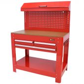 George Tools 3 drawer workbench with tool panel red
