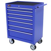 George Tools Roller cabinet 7 drawers blue
