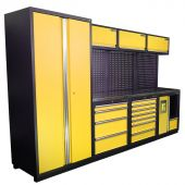 Kraftmeister NextGen Halifax stainless steel workstation yellow