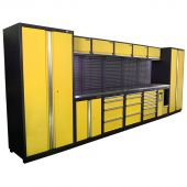 Kraftmeister NextGen Montreal stainless steel workstation Yellow