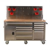 George Tools Roller cabinet 62 inch with 10 drawers Stainless steel
