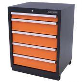 Kraftmeister 5-drawer cabinet Premium - Orange