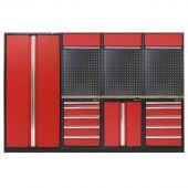 Kraftmeister modular garage system Burlington Nextgen Red