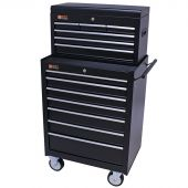 George Tools roller cabinet with tool chest 13 drawers black