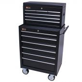 George Tools roller cabinet with tool chest 12 drawers black