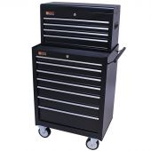 George Tools roller cabinet with tool chest 11 drawers black