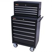 George Tools roller cabinet with tool chest 10 drawers black