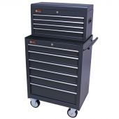 George Tools roller cabinet with tool chest 10 drawers anthracite