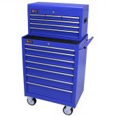 George Tools roller cabinet with tool chest 13 drawers blue