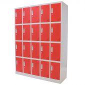 Kraftmeister 20-door locker, red