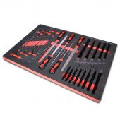 Kraftmeister Foam Inlay 7. Chisle, punch, file and T-handle hex key set 24pcs
