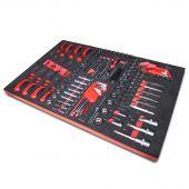 Kraftmeister Foam Inlay 8. Socket, screwdriver, hex and torx set 116pcs