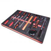 Kraftmeister Foam Inlay 9. Wood Chisel, file, hammer and measuring set 13pcs
