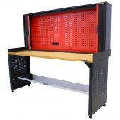 Kraftmeister workbench with back panel MDF 200 cm - black