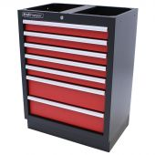 Kraftmeister cabinet with 7 drawers, Redline