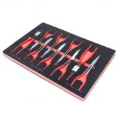 Kraftmeister Foam Inlay 18. Extra long circlip, round nose and forceps pliers set 9pcs