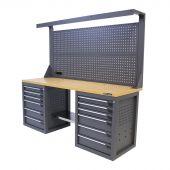 Kraftmeister workbench 200 MDF 12 with tool panel Platinum