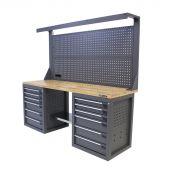 Kraftmeister workbench 200 Oak 12 with tool panel Platinum