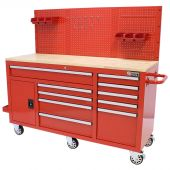 George Tools Roller cabinet 62 inch with 10 drawers red