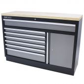 Kraftmeister tool storage cabinet with 7 drawers, storage space and Plywood worktop