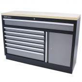 Kraftmeister tool storage cabinet with 7 drawers, storage space and Plywood worktop