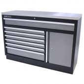 Kraftmeister tool storage cabinet with 7 drawers, storage space and Stainless Steel worktop