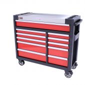 George Tools 11 drawer filled tool cabinet - Red - 154pcs