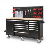 George Tools 62 inch filled mobile workbench black - 156 pcs