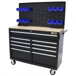 George Tools Mobile Workbench 46 Inch 9 Drawers black